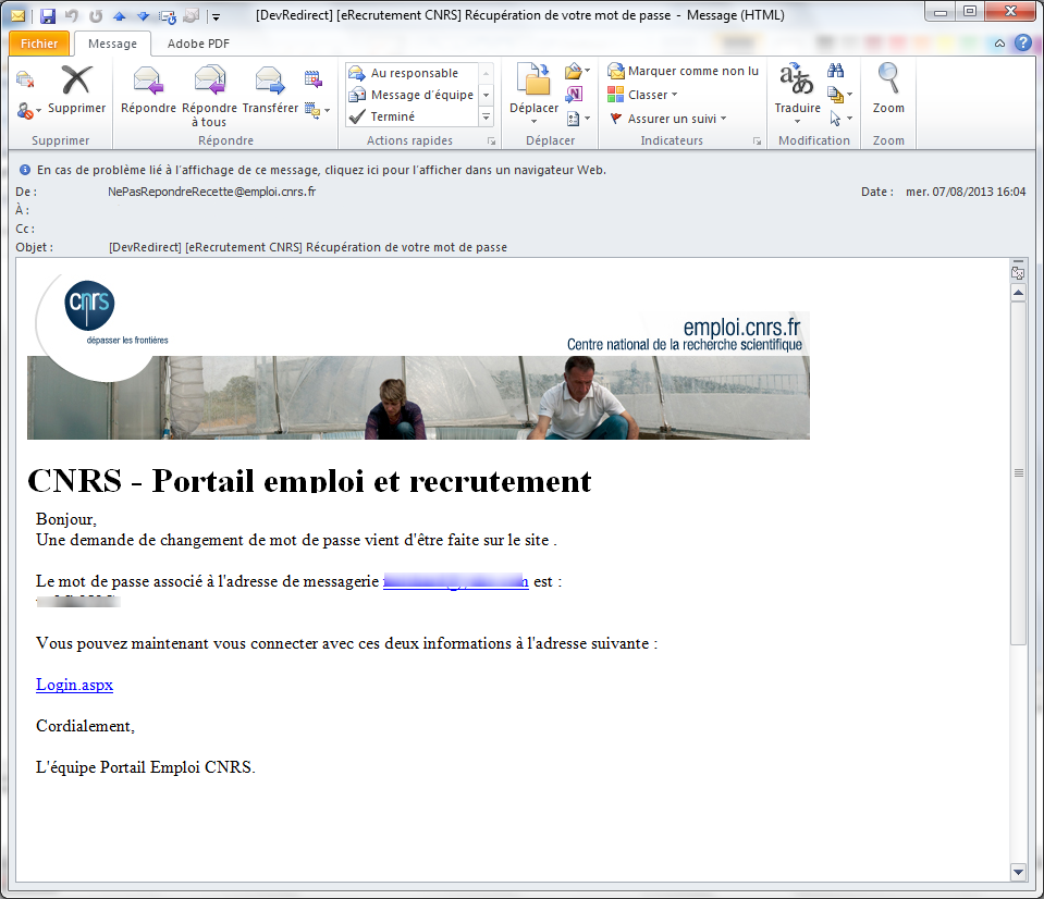 Portail Emploi Cnrs Documentation Candidat